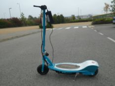 Razor turquoise electric scooter with charger