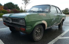 ER0 774K Vauxhall Viva 1256 Saloon in green, 1256cc, first registered 07.06.1972, petrol, showing