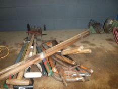 Large quantity of garden tools
