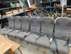 2 sets of airplane seats