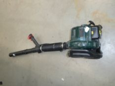 Webb green petrol powered blow vac