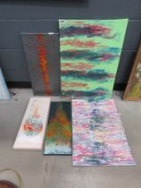 5 modern abstract oil painting