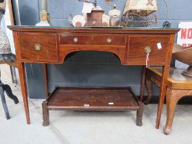 Edwardian desk with three frieze drawers