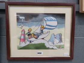 5167 - Comical yachting print