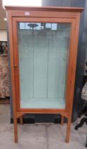 Glazed pine display cabinet