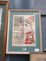 1950s silver cross advertising poster