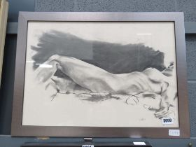 5171 - Framed and glazed print of reclining nude