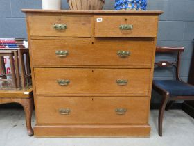 Victorian chest of two over three drawers