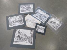 Folio of prints relating to Hitchin