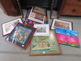 Selection of assorted prints and pictures