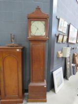 18th century oak long case clock from Baldock