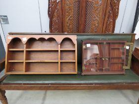 5107 - 3 wall mounted display cabinets