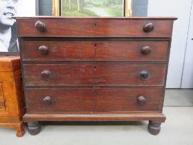 Georgian mahogany chest of four graduated drawers