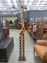 Carved figure of a giraffe