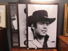 3 framed photographic prints