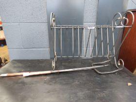 Wire work magazine rack and companion set