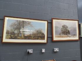 2 David Shepard signed prints including March sunlight