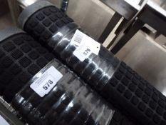 122cm x 183cm black square patterned commercial entrance mat