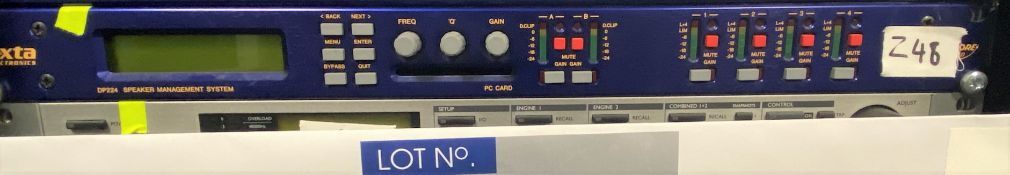 A Xta Electronics DP224 Speaker Management System (previously in use).