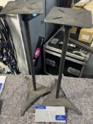 A Pair of Speaker Stands, 670mm high, 150mm sq. base.