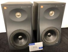 A Pair of JBL 4206 Studio Monitor Speakers (previously in use).