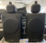 A Pair of B and W Series 80 Model 801 Loudspeakers No.005577, 005578 (previously in use).