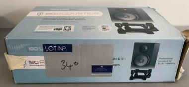 A Pair of ISO Acoustics ISO L8R 155 Speaker Stands (used but boxed).