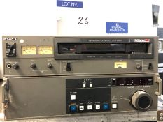 A Sony Betacam SP PVW-2600P Video Cassette Player (plays tape).