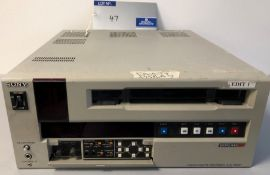 A Sony Betacam SP UVW-1800P Video Cassette Recorder (spares only).