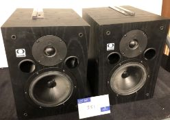 A Pair of Quested S7 Studio Monitor Speakers, each 350mm x 250mm x 300mm, 7in speaker, 4in