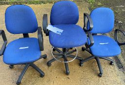 3 Various Swivel Chairs (blue).