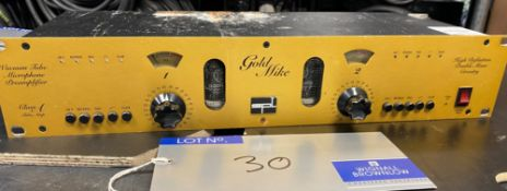 An SPL Gold Mike Model 9844 High Definition Vacuum Tube Microphone Preamplifier (functions but valve