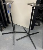 A Pair of Adjustable Height Speaker Stands, 1.2m min. height.