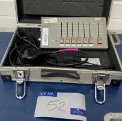 A Zero 88 Level 6 Six Channel DMX Controller with power supply unit and case (in working order).