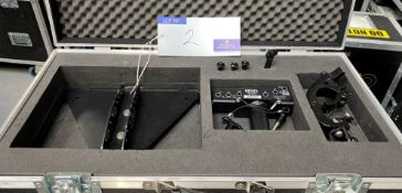 A NEXO Geo M6 Hardware Pole Mount Adapter with flight case.