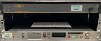 A Marantz PMD560 Solid State Recorder with EMO Systems RK1 Rack Light and flight case (condition