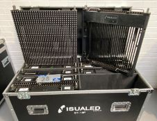 9 Visualed ST-18P LED Screen Panels with mobile flight case (in working order), please note that