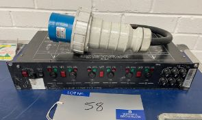 A Pulsar 6x10A 1-3ph DMX Lighting Dimmer (not used for over 12 months-working when last used).