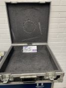 A Briefcase Style Flight Case, 580mm x 580mm x 180mm.