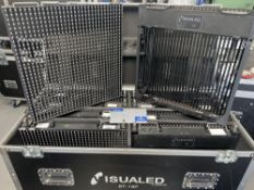 10 Visualed ST-18P LED Screen Panels with mobile flight case (in working order), please note that