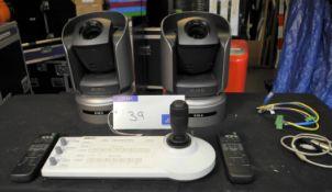 A Sony Remote Camera Kit; 2 x BRC-H700 head unit with optional HD-SDI cards, 1 x RM-BR300 control