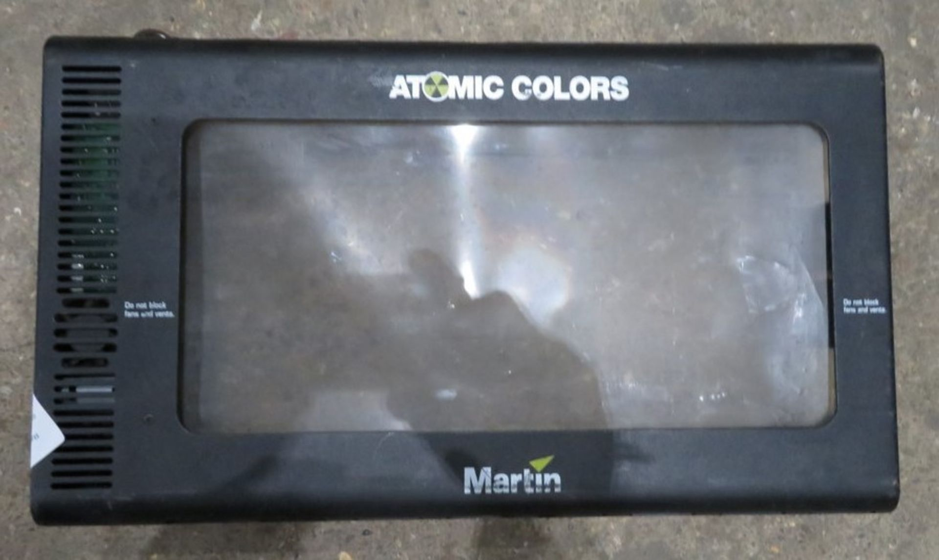 A Martin Atomic Colors Scroller with mounting brackets and used scroll-located at GLS Lighting,