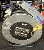 A Proel AV150 Audio XLR Multicore Reel; 8 sends, approx. 50m, untested-located at PR Live, Unit 6,