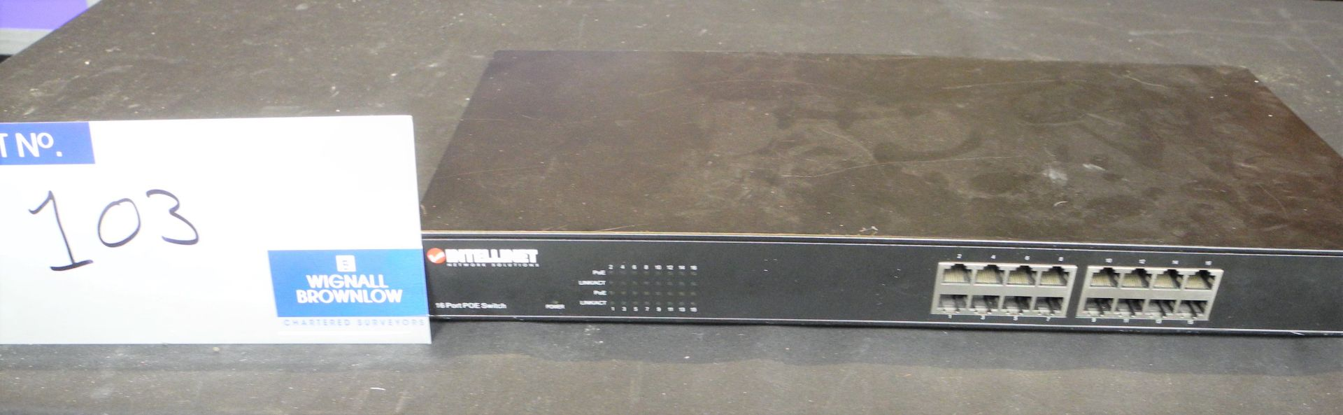 Intellinet Network Solutions 524155 16 port POE switch, not tested-located at PR Live, Unit 6,