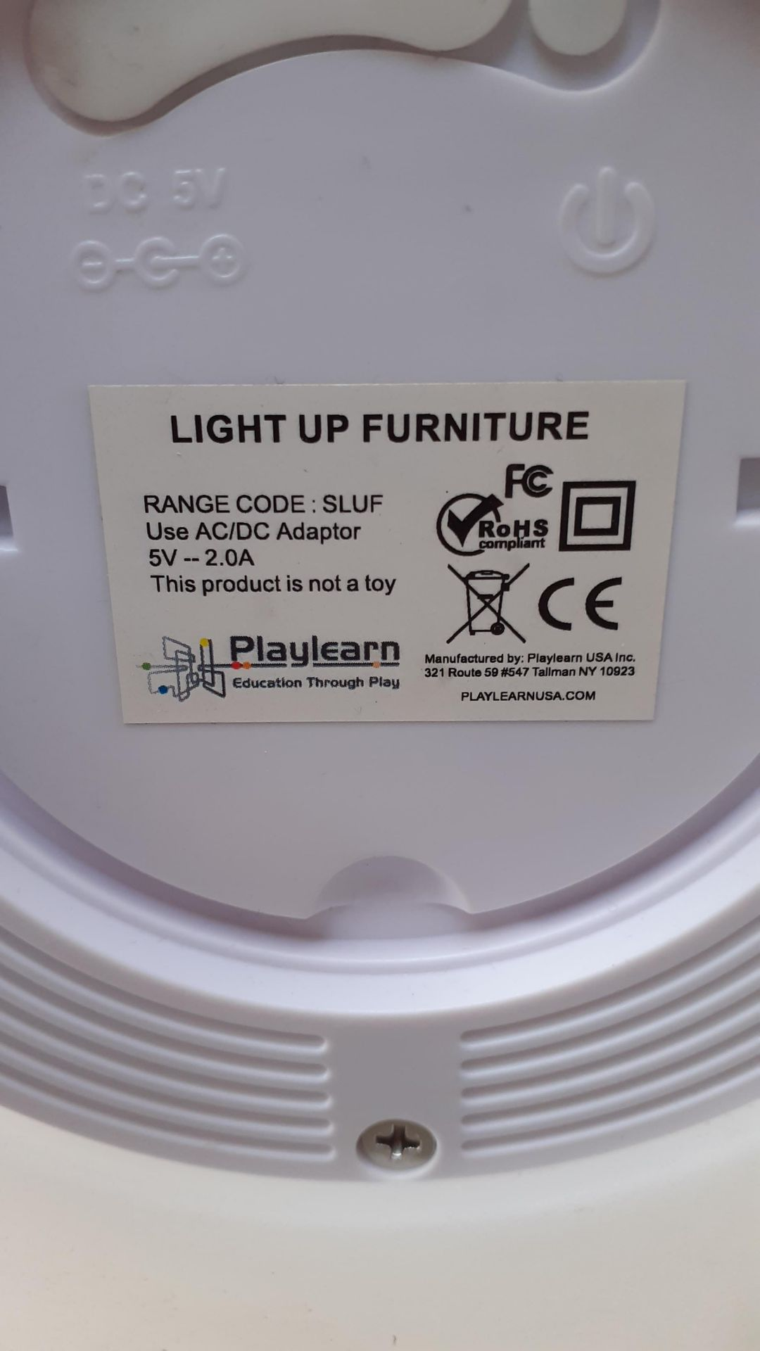 A Playlearn SLUF 70cm Light Up Cylinder with Power Supply and Remote Control (good condition, - Image 4 of 10