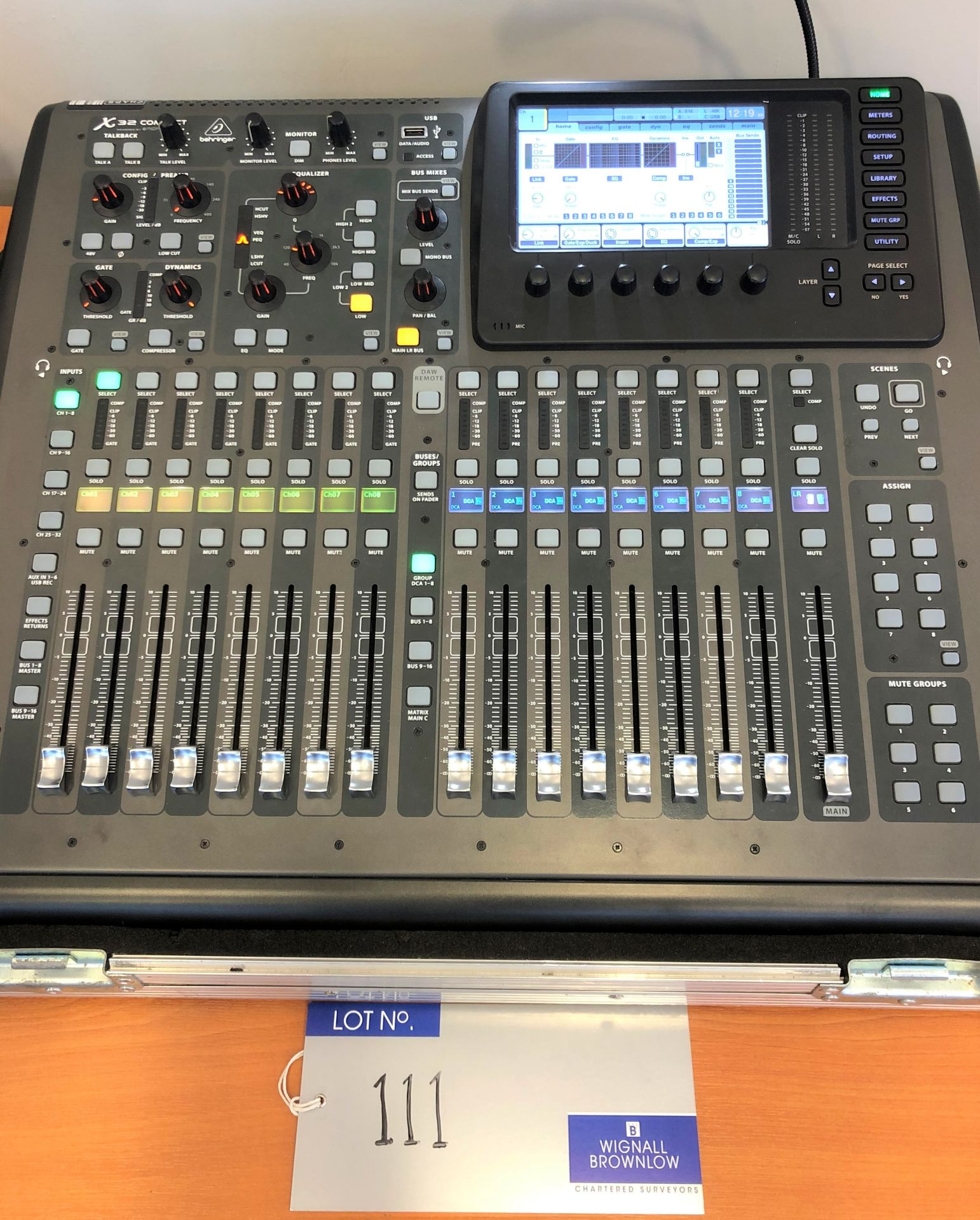 A Behringer Midas X32 Compact Digital Mixing Console with Behringer Midas S16 I/O Stage Box, 50m - Image 3 of 4