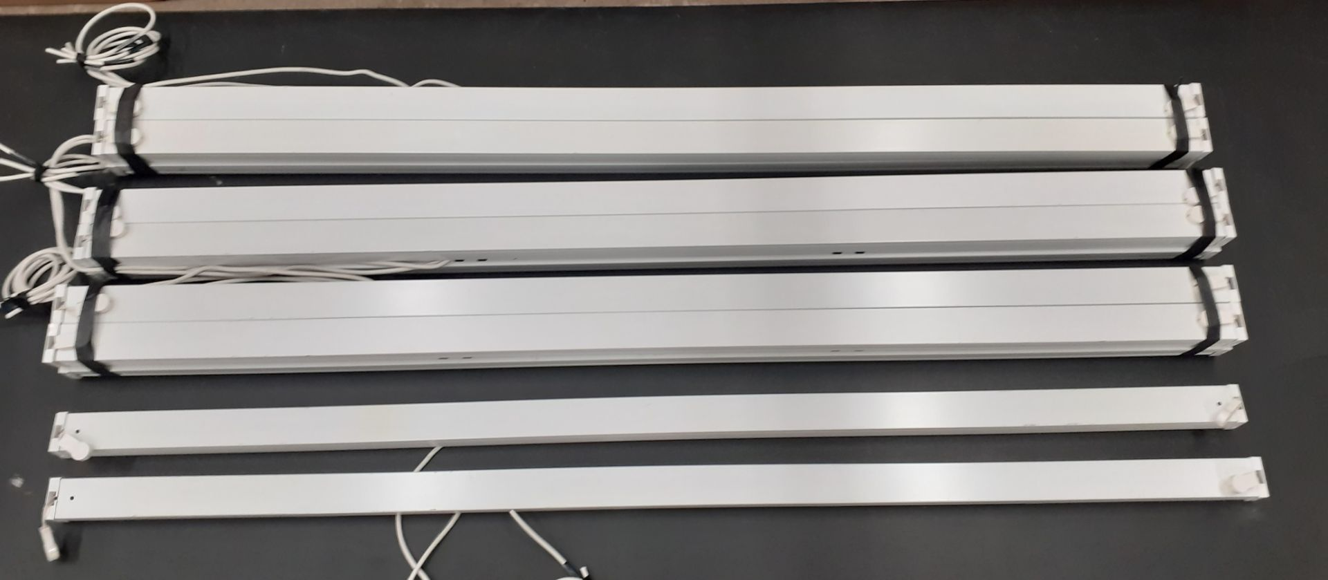 14 x 6ft Thorn 70W T26 Fluorescent Light Fittings (white)-excellent condition, used for one day only