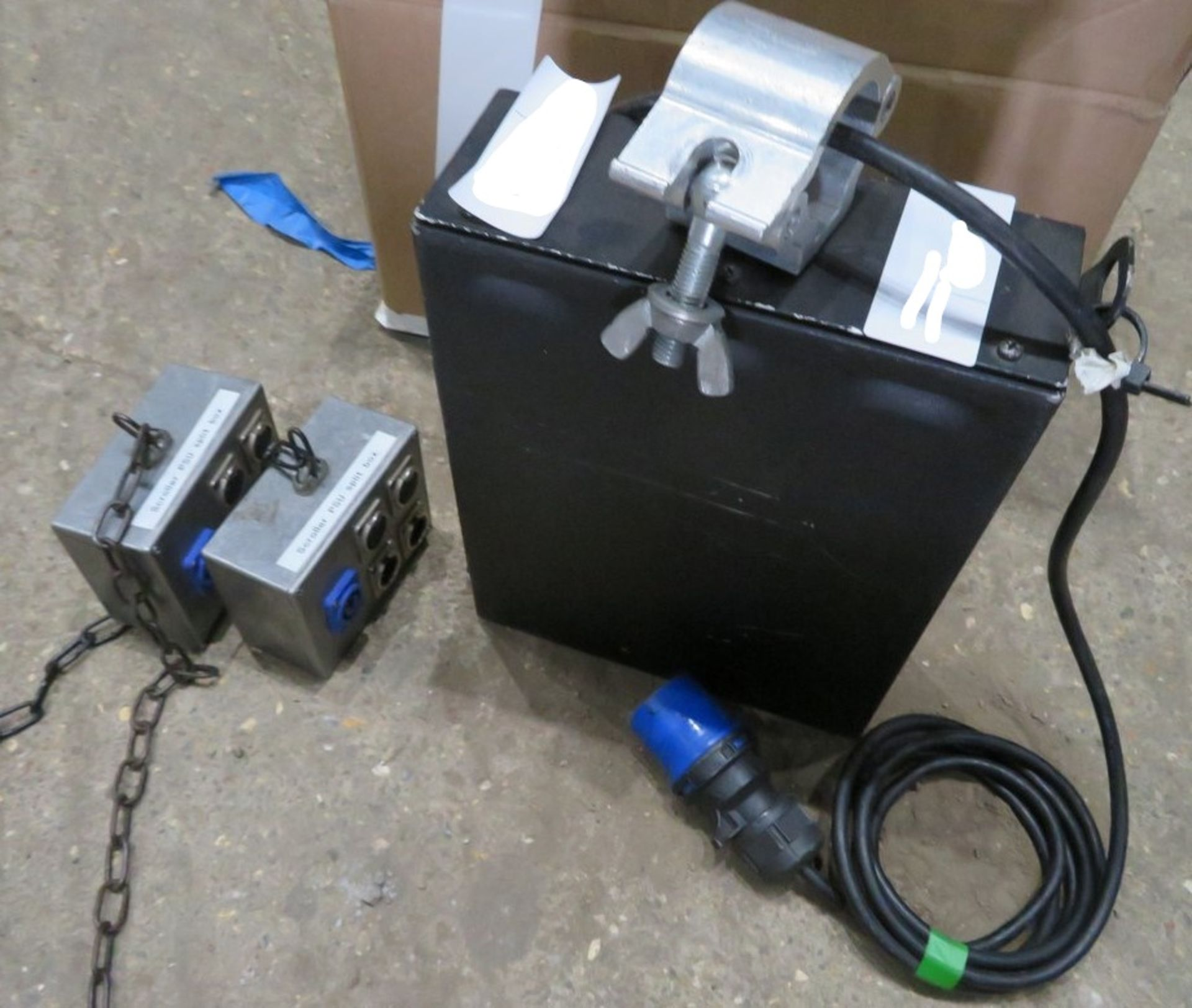 A ChromaQ Scroller Power Supply Unit with 2 Splitter Boxes-located at GLS Lighting, The Alpha