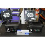 2 Core Point 30, P30 Rx/Tx Rugged Uplighters, good working condition, case not included-located at