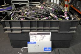 3-Pin DMX: 4 x 20m, 10 x 10m, 11 x 5m, 20 x 3m, very good condition-located at PR Live, Unit 6,